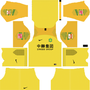 Beijing Sinobo Guoan FC goalkeeper away kit 2019-2020 dream league soccer