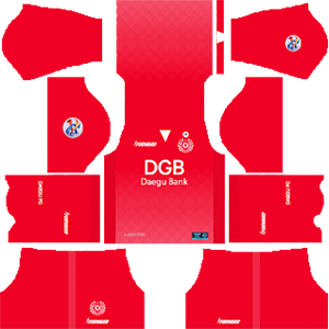 Daegu FC acl goalkeeper home kit 2019-2020 dream league soccer