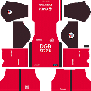 Daegu FC goalkeeper home kit 2019-2020 dream league soccer