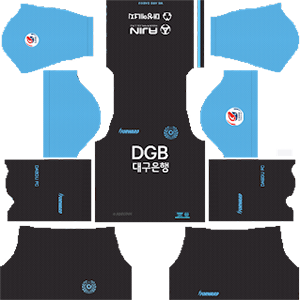 Daegu FC goalkeeper away kit 2019-2020 dream league soccer