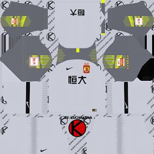 Guangzhou Evergrande Taobao FC goalkeeper home kit 2019-2020 dream league soccer