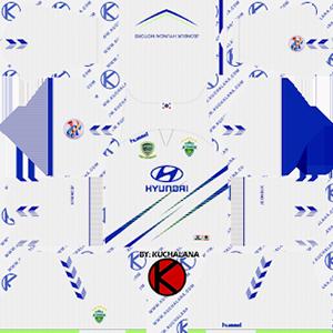 Jeonbuk Hyundai Motors FC acl away kit 2019-2020 dream league soccer