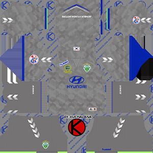 Jeonbuk Hyundai Motors FC acl goalkeeper away kit 2019-2020 dream league soccer