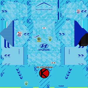 Jeonbuk Hyundai Motors FC acl goalkeeper home kit 2019-2020 dream league soccer