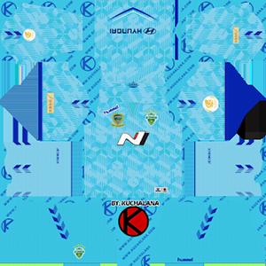 Jeonbuk Hyundai Motors FC goalkeeper home kit 2019-2020 dream league soccer