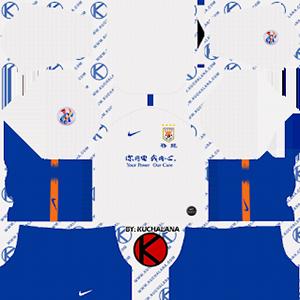 Shandong Luneng Taishan FC acl away kit 2019-2020 dream league soccer