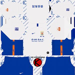 Shandong Luneng Taishan FC away kit 2019-2020 dream league soccer