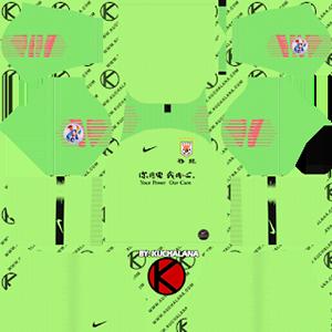 Shandong Luneng Taishan FC acl goalkeeper away kit 2019-2020 dream league soccer