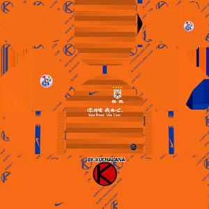 Shandong Luneng Taishan FC acl home kit 2019-2020 dream league soccer