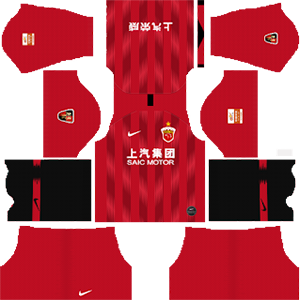 Shanghai SIPG FC home kit 2019-2020 dream league soccer