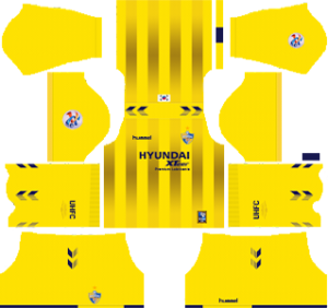 Ulsan Hyundai FC acl goalkeeper home kit 2019-2020 dream league soccer