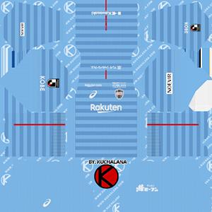 Vissel Kobe goalkeeper away kit 2019-2020 dream league soccer