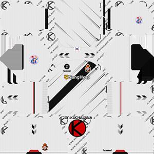 gyeongnam fc away kit 2019-2020 dream league soccer