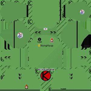gyeongnam fc goalkeeper acl away kit 2019-2020 dream league soccer