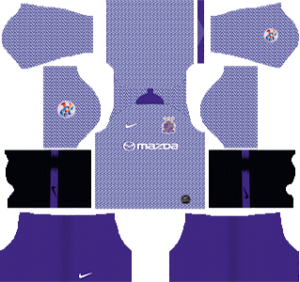 sanfrecce hiroshima home acl kit 2019-2020 dream league soccer