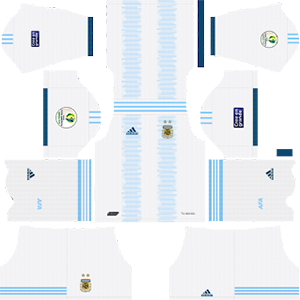 Argentina Copa America Kit 2019-2020 Home (White Pants)