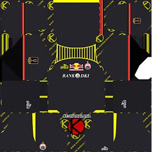 Persija Jakarta Piala Presiden goalkeeper home kit 2019-2020 dream league soccer