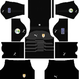 uruguay goalkeeper home puma kit 2019-2020 dream league soccer