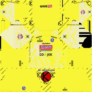 arema fc Indonesia Liga 1 goalkeeper home kit 2019-2020 dream league soccer