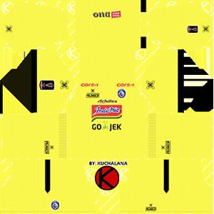 arema fc goalkeeper home kit 2019-2020 dream league soccer