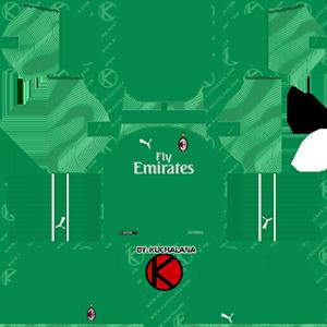 AC Milan goalkeeper home kit 2019-2020 dream league soccer