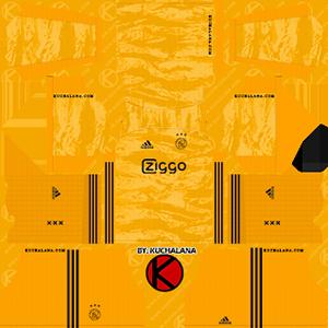 AFC Ajax goalkeeper home kit 2019-2020 dream league soccer