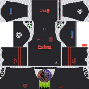 Atletico Madrid UCL away kit 2019-2020 dream league soccer