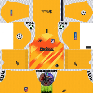 Atletico Madrid UCL gk home kit 2019-2020 dream league soccer