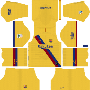 Barcelona gk away kit 2019-2020 dream league soccer