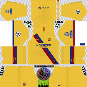 Barcelona UCL gk away kit 2019-2020 dream league soccer