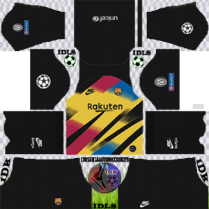Barcelona UCL gk third kit 2019-2020 dream league soccer