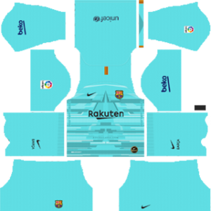 Barcelona goalkeeper home kit 2019-2020 dream league soccer
