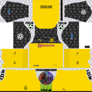 Borussia Dortmund UCL third kit 2019-2020 dream league soccer