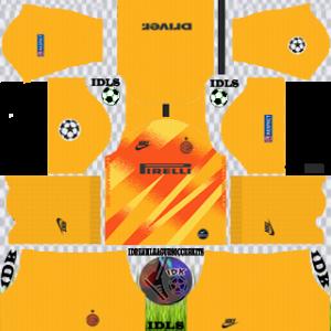 Inter Milan ucl gk home kit 2019-2020 dream league soccer