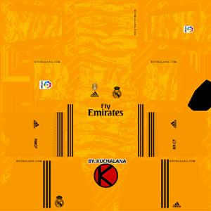 Real Madrid goalkeeper home kit 2019-2020 dream league soccer
