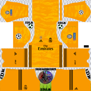 Real Madrid UCL gk home kit 2019-2020 dream league soccer