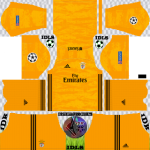 Benfica UCL gk away kit 2019-2020 dream league soccer