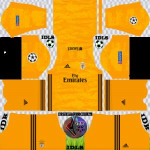 Benfica UCL gk away kit 2019-2020 dream league soccer
