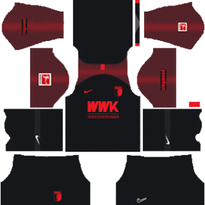 FC Augsburg away kit 2019-2020 dream league soccer