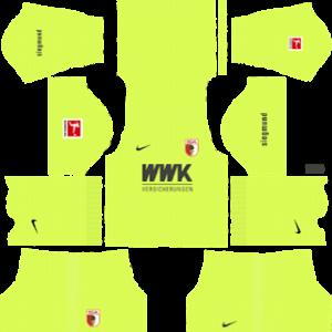 FC Augsburg goalkeeper home kit 2019-2020 dream league soccer