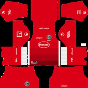 Fortuna Dusseldorf third kit 2019-2020 dream league soccer