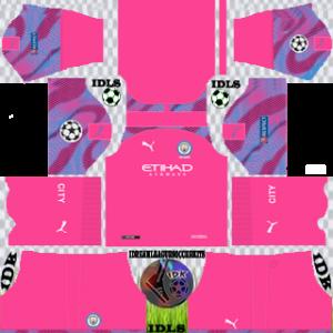 Manchester City UCL gk away kit 2019-2020 dream league soccer