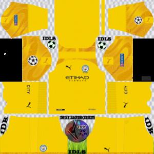 Manchester City UCL gk third kit 2019-2020 dream league soccer