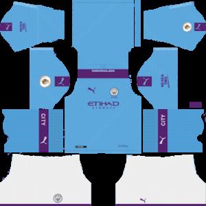 Manchester City home kit 2019-2020 dream league soccer