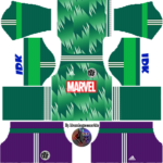 Marvel Iron Man, Spider-Man, Hulk, 2019 Dream League Soccer Kits
