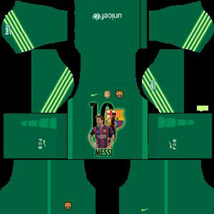 Messi Barcelona goalkeeper away kit 2019-2020 dream league soccer