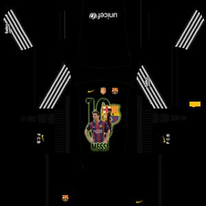 Messi Barcelona goalkeeper home kit 2019-2020 dream league soccer