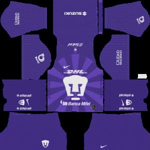 Pumas UNAM goalkeeper home kit 2019-2020 dream league soccer