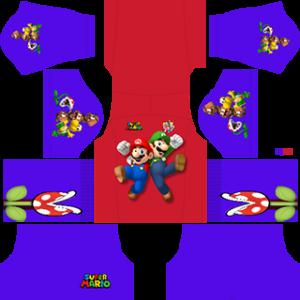 Super Mario away kit 2019-2020 dream league soccer