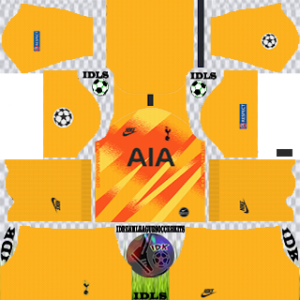 Tottenham UCL gk home kit 2019-2020 dream league soccer
